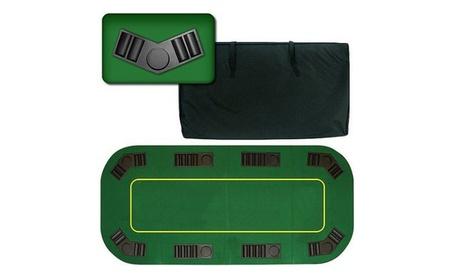 """80"""" Deluxe Texas Hold'em Folding Poker Table Top 2fd4dd62-85e8-4176-af8c-fa43eb3e5fac"""