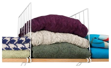 Evelots Wire Shelf Dividers For Wood Closet Shelves Organizers 399d21dd-b7d9-494c-af1a-f10e042fa493