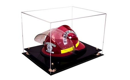 Acrylic Fireman s Helmet Large Display Case with UV Protection 1f80a160-9802-42e7-b61f-a72c28f4cbde