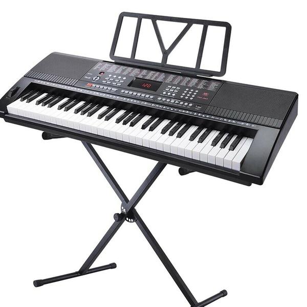 """61 Key Piano Keyboard /""""X/"""" Stand Electric Organ Rack Folding Iron"""