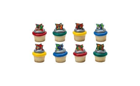Power Rangers Dino Charge Cupcake Rings - 24 ct 45ffa9f6-0295-4be3-affe-046e863eee1c