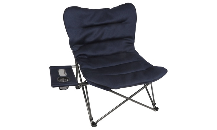Superb Ozark Trail Oversized Relax Plush Chair With Side Table Theyellowbook Wood Chair Design Ideas Theyellowbookinfo
