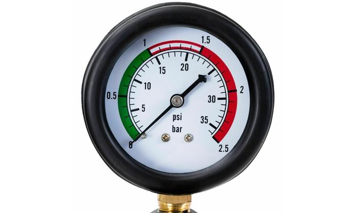Goplus 28-Piece Universal Radiator Pressure Tester Vacuum Type Cooling System Tool Kit w//Carrying Case
