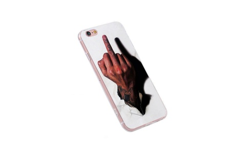 Middle Finger Soft Silicone Phone Case Cover for iPhone 894b8b52-3f45-4dce-8791-7d95fe3c5167