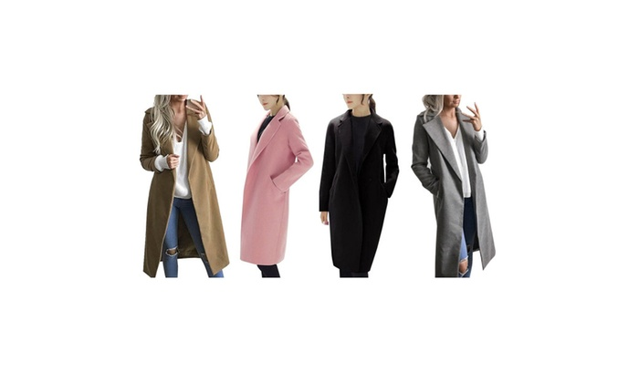 6a06eafcc764 Women Cardigan Coat Clearance Long Coat Lapel Parka Jacket | Groupon