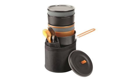 Set for 2 Person 10-Piece Easy Storing Camp Cook Set