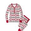Women's Christmas Family Pajamas Set Deer Sleepwear Nightwear