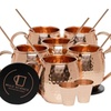 Pure Copper Moscow Mule Mugs (Set of 6) by Mule Science