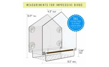 Window Bird Feeder with High Pitched Roof (Goods Pet Supplies Bird Supplies) photo