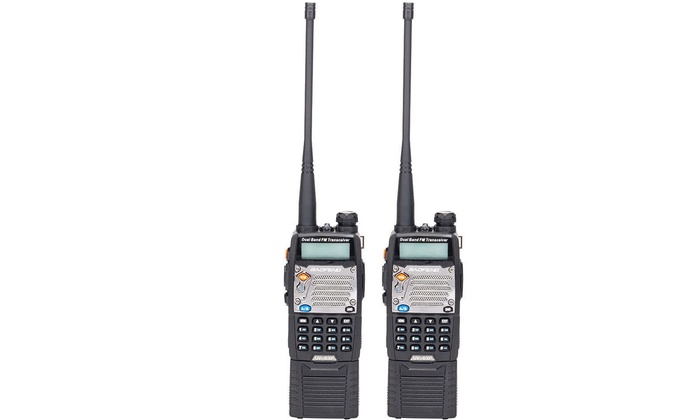 2x Baofeng UV-5XP 8W Two Way Ham Radio 3000mAh UHF VHF Dual Band Walkie Talkie