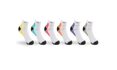Unisex Ankle-Length Compression Socks (12 Packs)