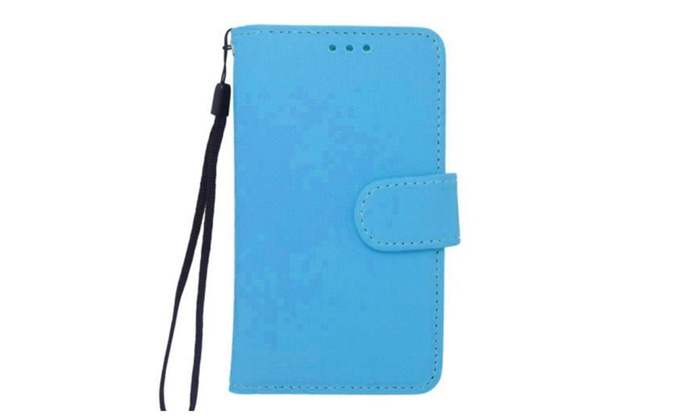 """eForCity: Insten Universal PU Leather Case w/Card Slot For 4.5"""" Smartphone"""
