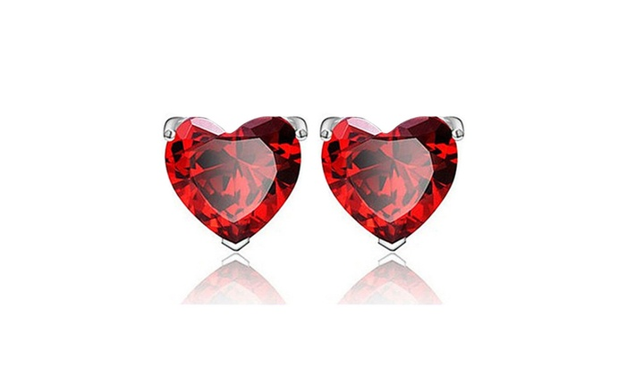 3 Pack 925 Sterling Silver Heart Shaped Earrings
