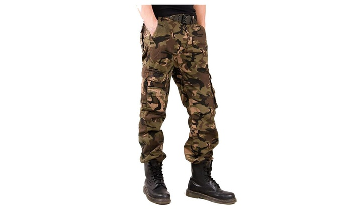 Cargo Pants Relaxed Fit for Men Military Army Style with Multi Pockets