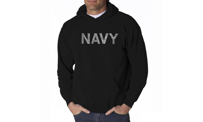 Men's Hooded Sweatshirt - LYRICS TO ANCHORS AWEIGH