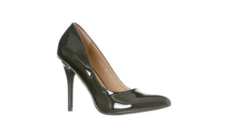 Riverberry Women's Gaby Pointed Closed Toe Stiletto Pump Heels b7516974-d1cb-4cae-981f-572e76a2a67e