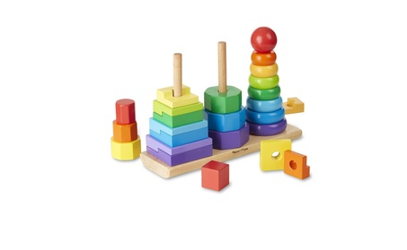 Geometric Stacker - Wooden Educational Toy 28fb7569-c2df-4ebc-9623-f270ede84c2f