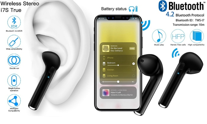 Up To 79 Off On Dual Wireless Bluetooth 4 2 E Groupon Goods