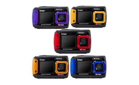 Knox Dual-Screen 20MP Rugged Underwater Digital Camera with Video d503409d-ea03-4ea5-b388-bf5b432dd213