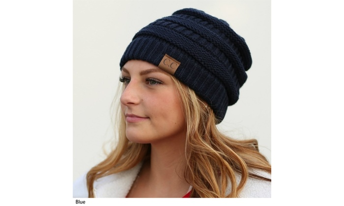 Up To 5% Off on C.C. Women s Knit Beanie Hat  bb21425df9c