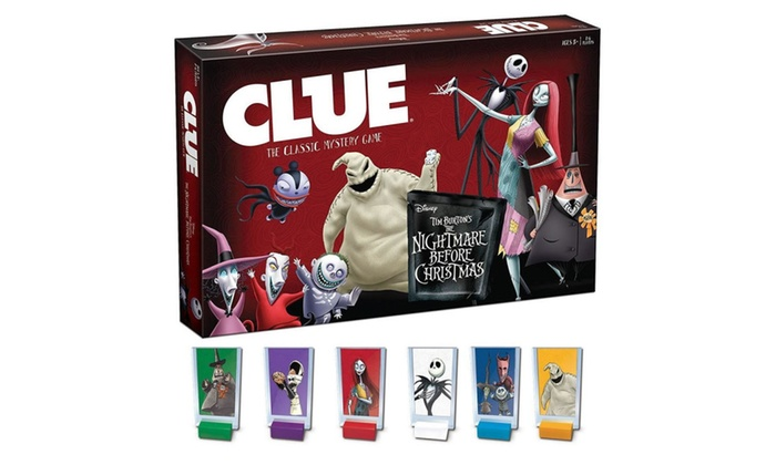 clue tim burtons the nightmare before christmas board game usaopoly - Nightmare Before Christmas Board Game