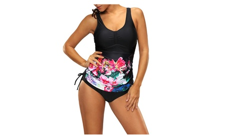 Women's Padded Floral Tankini Sets Two-piece Swimsuit Bathing Suit 57e77c9c-ac0f-42f3-8c9c-e5da7336f754