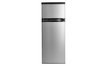 7.3 cu ft Black Top Mount Refrigerator with Stainless Steel Doors photo