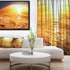 Tropical Beach at Sunset - Photography Framed Canvas Art Print
