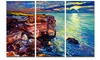 Beautiful Ocean and Cliffs - Seascape Painting Metal Wall Art