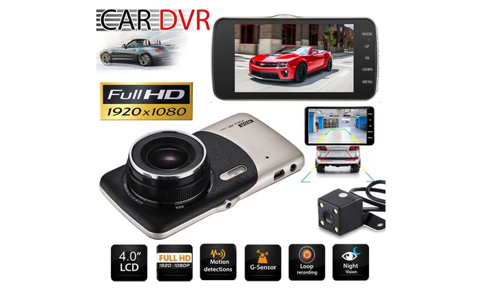 4/'/' HD Dual 1080P Car Camera Vehicle DVR Dash Cam Video Recorder Night Vision