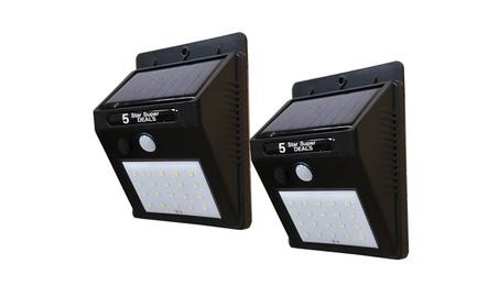 2pc 20LED Solar Power Weatherproof Sensor Wall Security Motion Light 00809a4a-28a3-458b-9afa-445fab59fa5a
