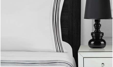 3000 Series Brushed Microfiber 5-Line Emb. White, Black, and Grey Sheet Sets a0dd1be4-0377-4e08-96bc-f31a69b17e5d