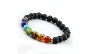 7 Genuine Chakra Healing Natural Stone Bead Bracelet