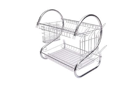 Drying Rack Holder Organizer 2 Tiers Kitchen Dish Cup Drainer Dryer 928e9d81-3d6d-4b6a-af15-406f1f4e9114