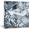 Graffiti over Old Dirty Wall Street Art Metal Wall Art 28x12