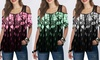 Women's Lace Printed Short-Sleeved Loose T-shirt Women's Tunic
