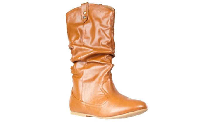 Riverberry Women's 'Tiktok' Slouchy Fashion Boot, Chestnut