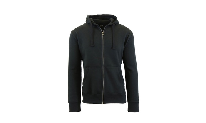 Men's Fleece Zip Hoodie with Thermal Lined Hood | Groupon