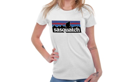 02f1eb55365f Sasquatch Legend Bigfoot Creature Urban Ladies T Shirt