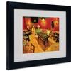 Vincent van Gogh 'Night Cafe' Matted Black Framed Art
