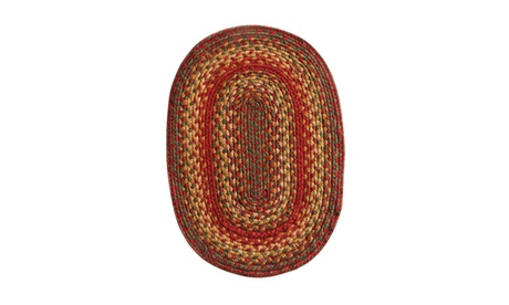 "Homespice Decor Cider Barn Jute Braided Placemat 13"" x 19"" Oval 9004a432-4430-4199-a2e9-af5937171a77"