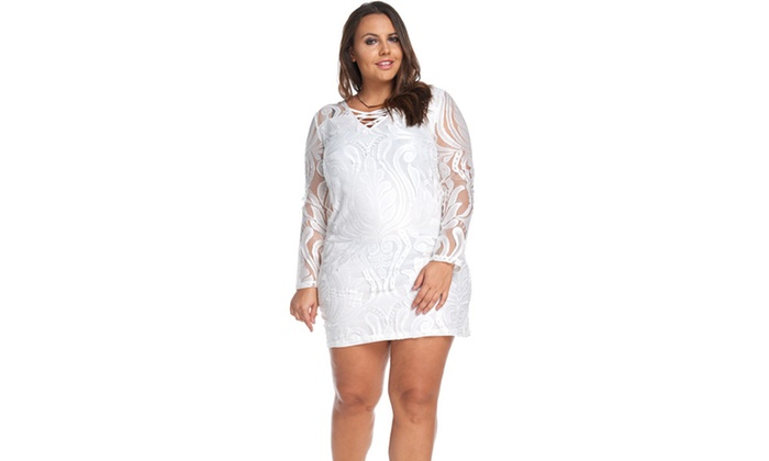 Xehar Women's Tabitha Lace Sleeved Dress