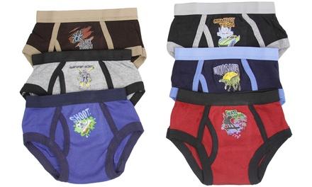 Boys' Cool Cotton-Blend Graphics Briefs (6-Pack)