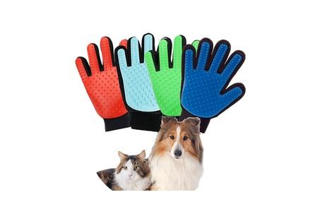 Pet Grooming Gloves Brush Dog Cat Hair Remover Mitt Massage 1 Pair 1f705023-789b-4f4b-a0b0-bbe0e0226a4e