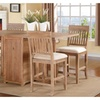 Izmir 5 Pieces Dining Set In Brown Finish