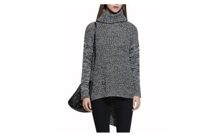Women Neck Knitwear Loog Sleeve Loose Knitting Sweater bfab2e0b-0ca8-4d2d-b0ef-e92e189dc209