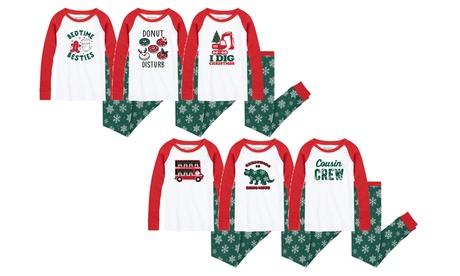 Nap Chat: Kid's Snowflake Christmas Pajama Sets
