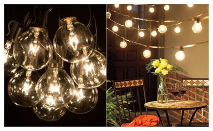 Solar Edison Style Patio LED String Lights