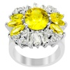 Orchid Jewelry 0.925 Sterling Silver Cubic Zirconia Flower Ring