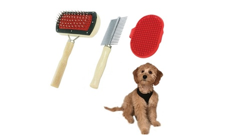 Pet Brush Comb Set Dog Cat Pets Grooming Puppy Hair Massage Shedding 685afe34-7ac3-4803-8a76-79aedf3073a2